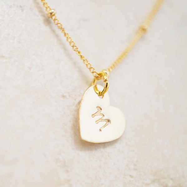 Gold-Filled Initial Heart Necklace