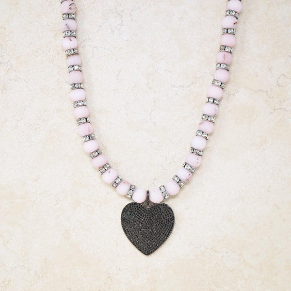 Pink Opal Rondelet Necklace