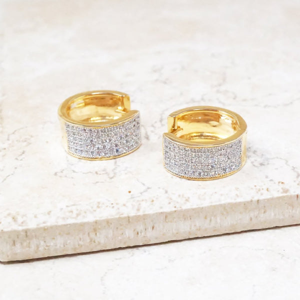 Pavé Chunky Hoop Earrings