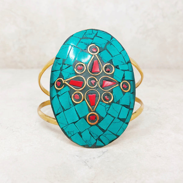 Mosaic Statement Bangle Bracelet