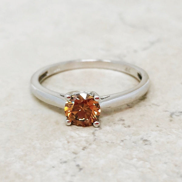Sterling Silver Ring with Chocolate Crystal