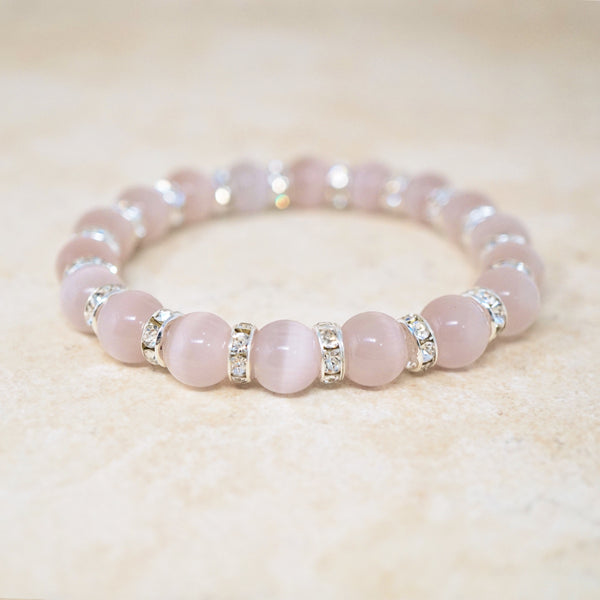 Lilac Selenite Quartz Gemstone Bracelet
