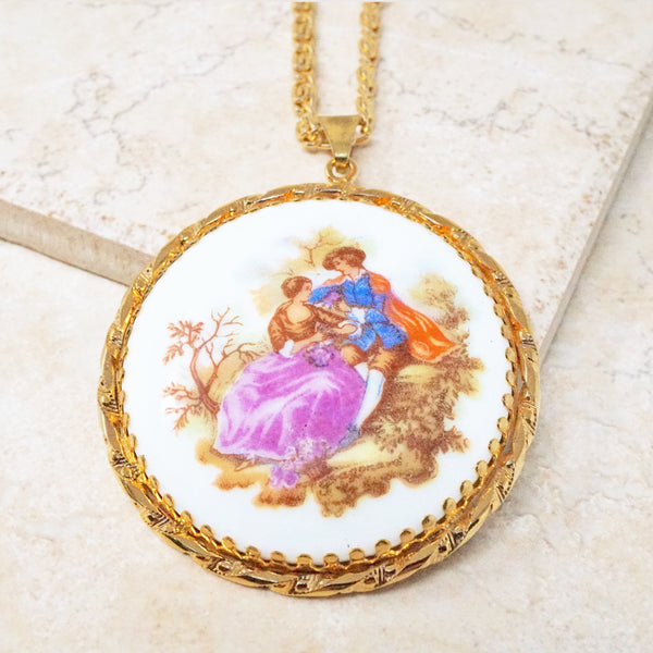 Romantic Victorian Limoges Style Necklace