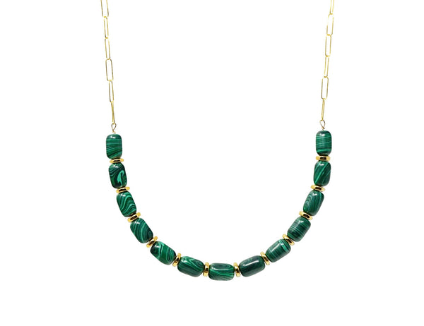 Malachite Gemstone Statement Necklace