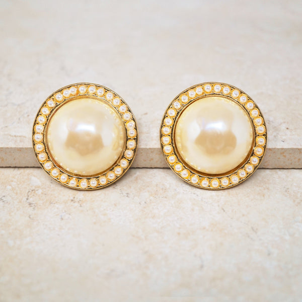 Statement Pearl Stud Earrings