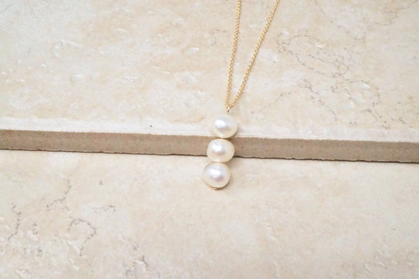 Trio of Pearls Necklace