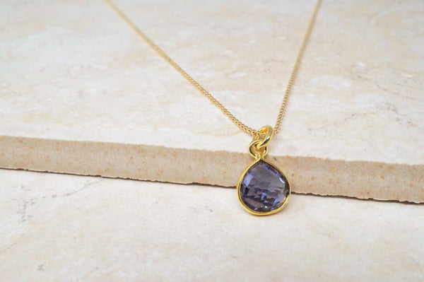 Dainty Amethyst Gemstone Necklace