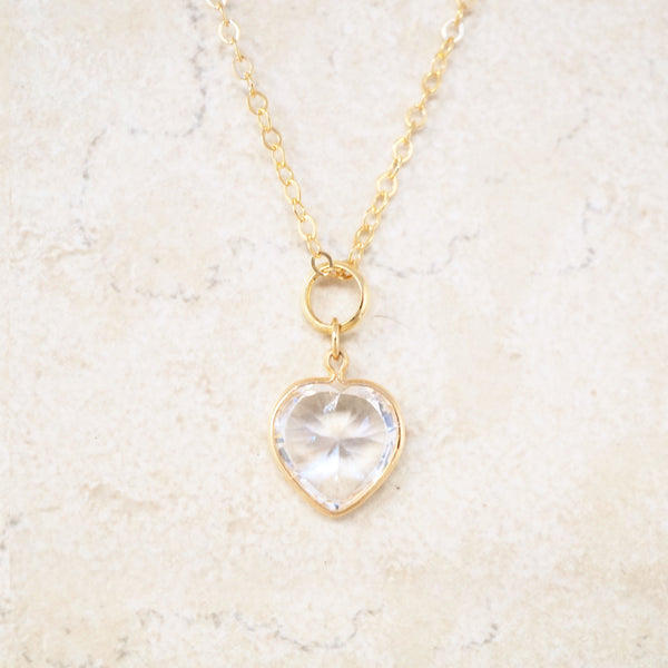 Quartz Sweetheart Necklace