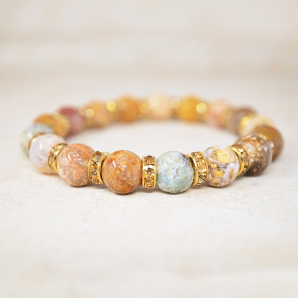 Saddle Agate Gemstone Bracelet