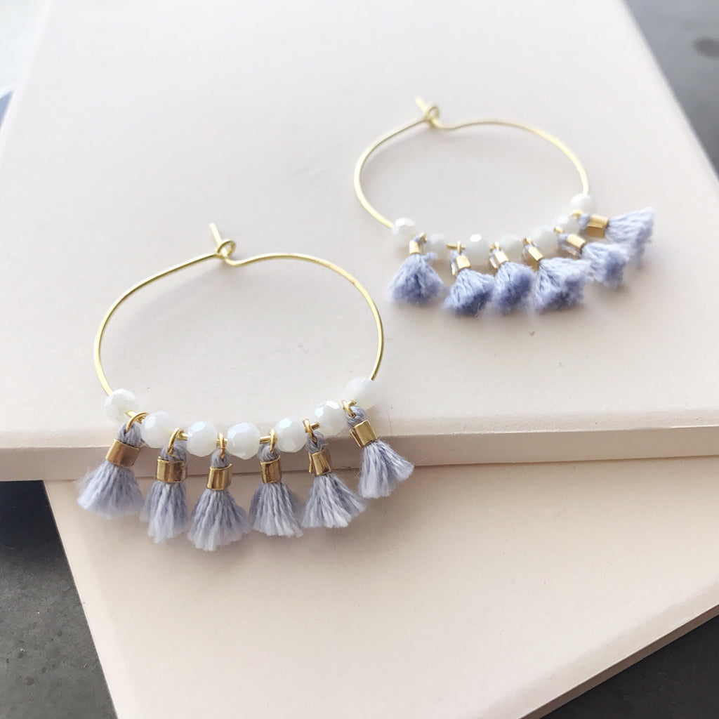 Aruba Hoops in Alice Blue
