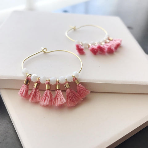 Aruba Hoops (Coral) by Anthologie