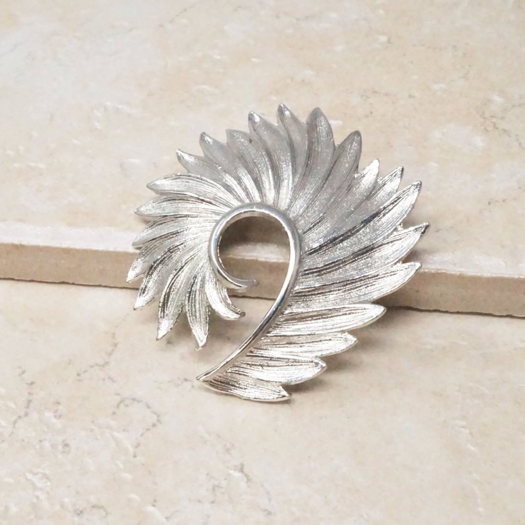Silver Winged Brooch