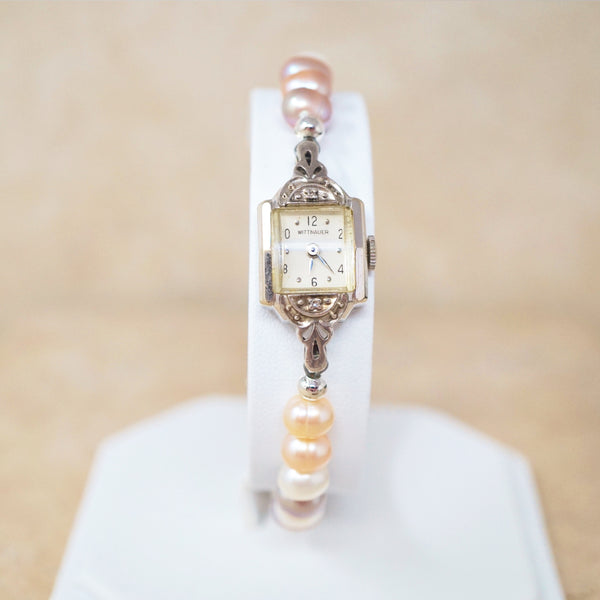 One of a Kind Handmade Pearl Wristwatch
