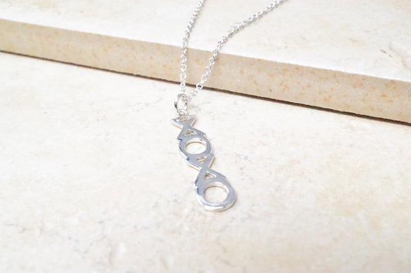 "Sterling Silver ""XOXO"" Necklace"