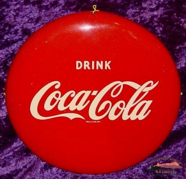 12 Round Coca-Cola Button Sign General Store & Lighting
