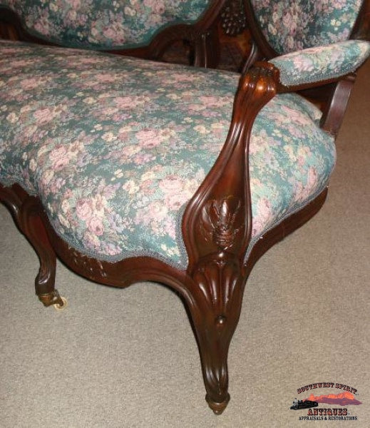 1870S Victorian Rosewood Triple Back Sofa Furniture