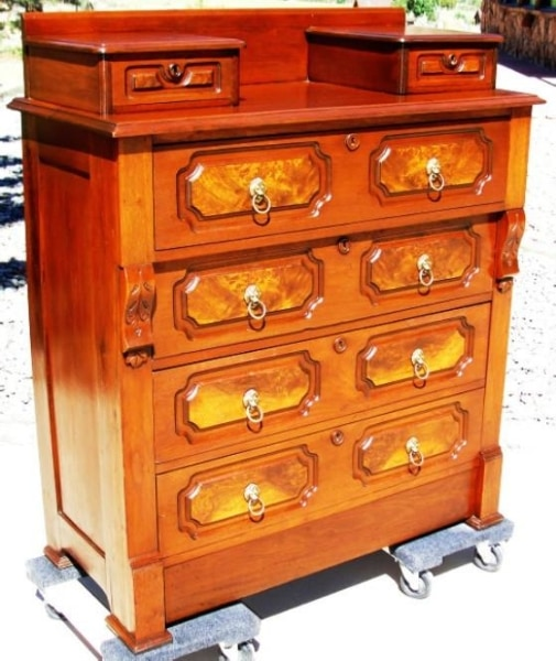 1880S Walnut Eastlake Style Dresser W/ Hankie Drawers Furniture