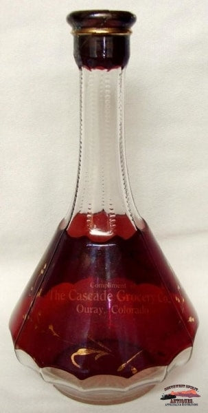 1900S Cascade Grocery Ouray Co Ruby Liquor Decanter General Store & Lighting