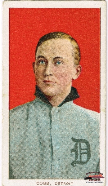 1909 Ty Cobb T206 Portrait - Red No. 30 Sweet Caporal Cigarettes Near Mint Baseball Card