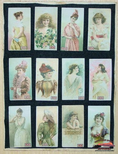 1910 Lorillard Co. Ante Tobaccobeautiful Women Cards Collectibles-Toys-Games