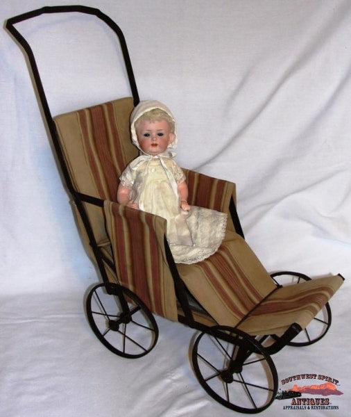 1920-30S Metal Doll Stroller Collectibles-Toys-Games