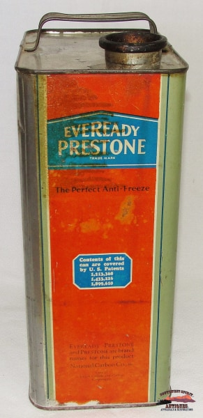 1929 Eveready Prestone One Gallon Antifreeze Can General Store & Lighting