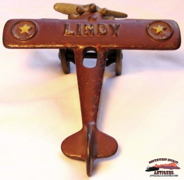 1930S Cast Iron Lindy Airplane Collectibles-Toys-Games
