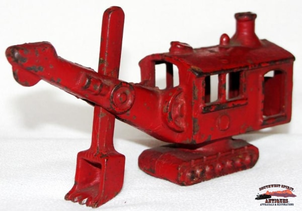 1930S Cast Iron Toy Steam Shovel Collectibles-Toys-Games