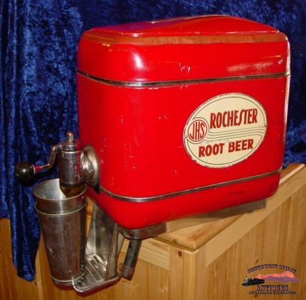 1940S Jhs Rochester Root Beer Dispenser General Store & Lighting