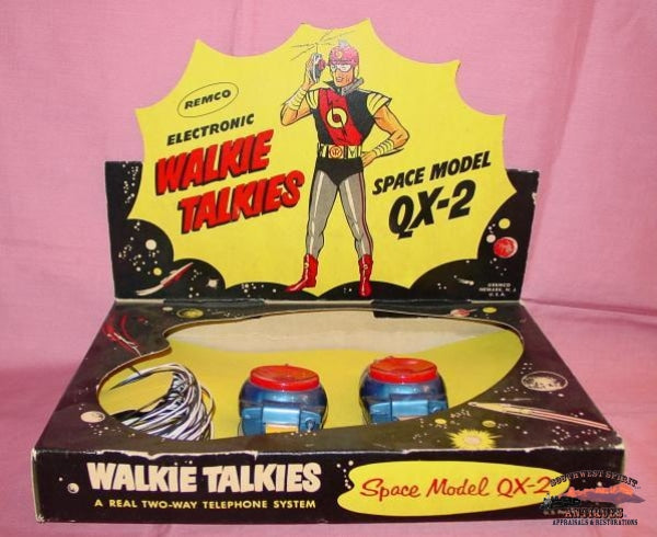 1960S Remco Qx-2 Walkie Talkie Set Collectibles-Toys-Games