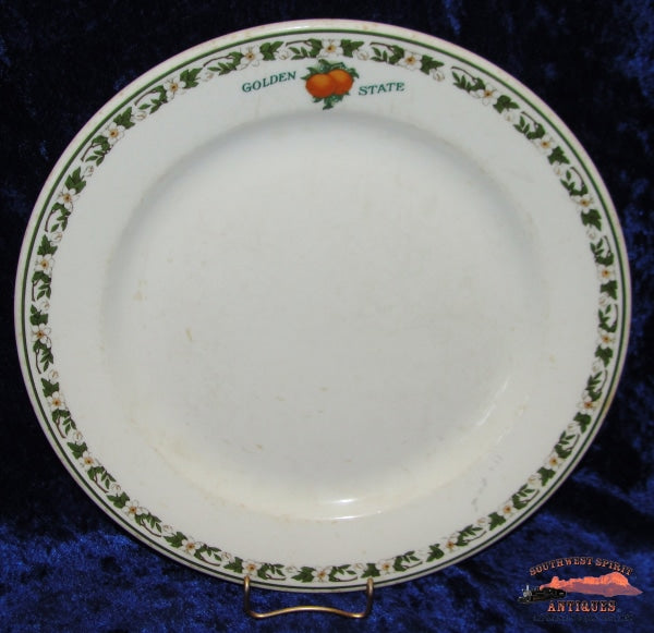 Cri&p - Rock Island Lines Golden State Luncheon Plate Railroadiana