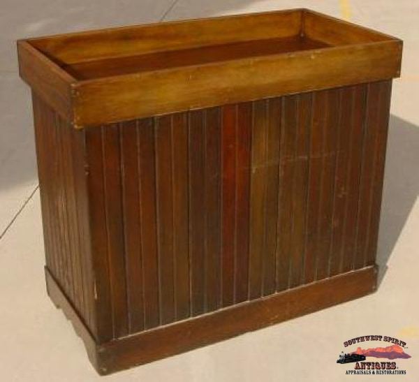 Dark Pine Wainscoted Dry Sink Furniture