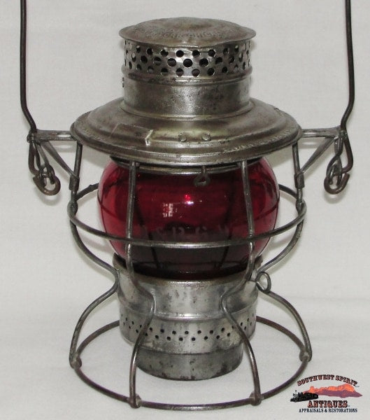 Denver & Rio Grande Railroad Adlake No. 200 Lantern With Red Etched D&rgwrr Globe Railroadiana
