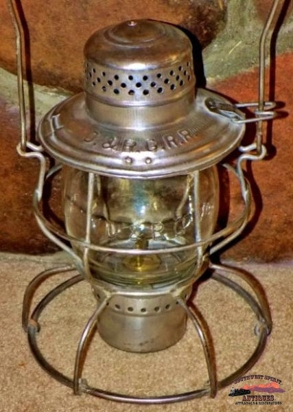 D&rgrr Clear Cast Tall Melon Globe Handlan Lantern Railroadiana