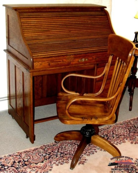 Early 1900S Ash Office Chair Furniture