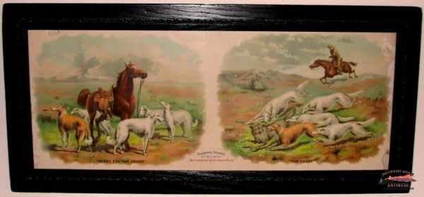 Early 1900S C&sry Framed Advertising Broadside Railroadiana
