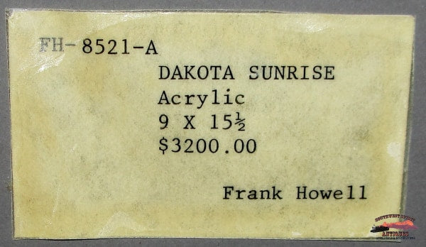 Frank Howell Original Acrylic Oil Dakota Sunrise Painting Collectibles-Toys-Games