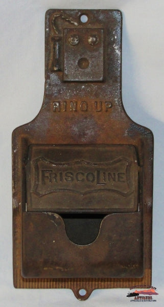 Frisco Line - St-Sfry Cast Iron Wall Match Safe Railroadiana