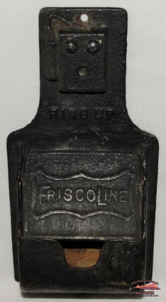 Frisco Line (St-Sfry) Cast Iron Wall Match Safe Railroadiana