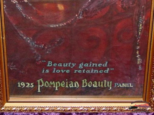 Original 1925 Pompeian Beauty Panel Yard Long Print Collectibles-Toys-Games