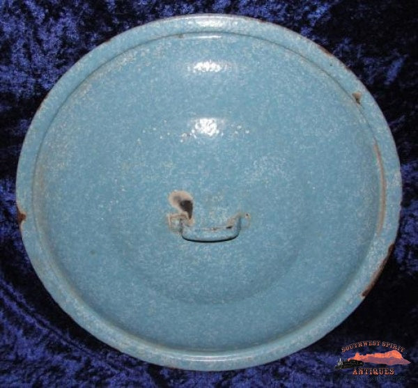 Powder Blue Puffy Graniteware Boiler/preserving Kettle General Store & Lighting