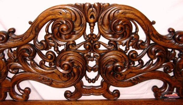 Superb 1890S Pierce Carved Claw Foot 4 Post Bed Furniture