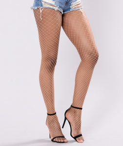 Industrial Fishnet Pantyhose (Nude)