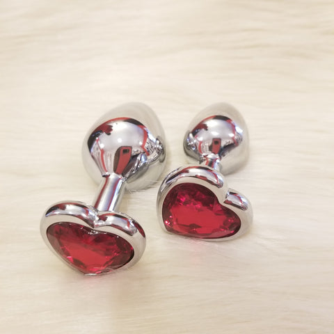 Red Heart Gem Anal Plug