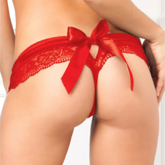Crotchless Panty with Bow