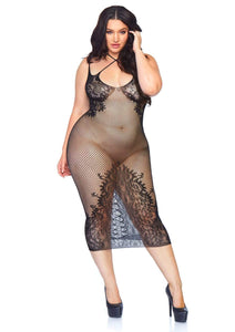 Seamless Plus Size Net Dress