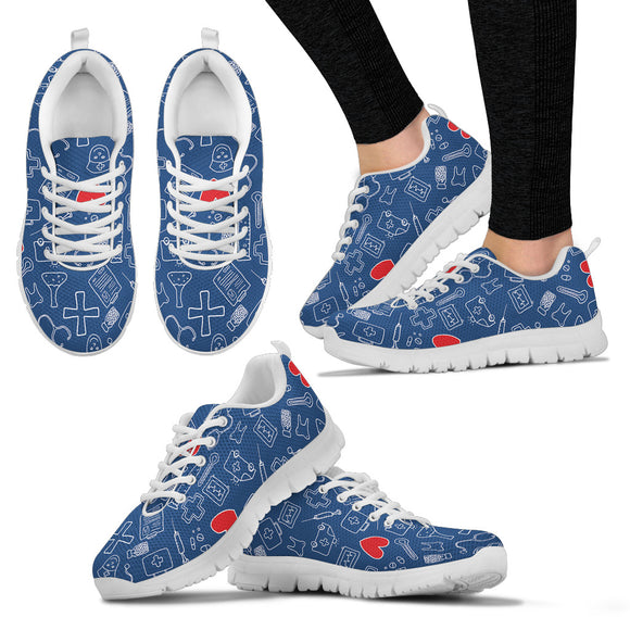 Cartoon Nurse Sneaker™  - Women's (3 Colors)