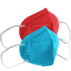 KN95 Protective Masks - 5 Per Pack  (Red or Blue)
