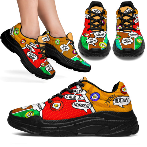 Cartoon Campfire Nurse™ Chunky Unisex Sneaker (More Colors)