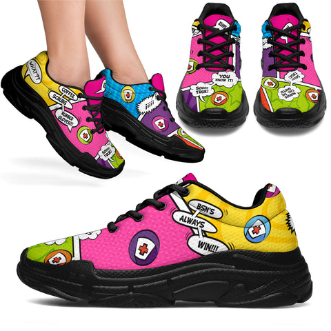 BSN'S Win!! Comic Strip Chunky™ Unisex Sneaker (More Colors)